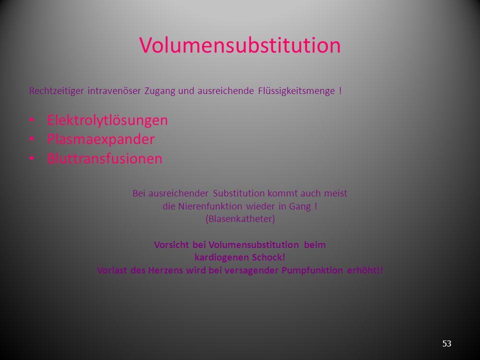 Volumensubstitution Elektrolytlösungen Plasmaexpander