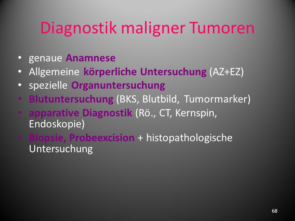 Diagnostik maligner Tumoren