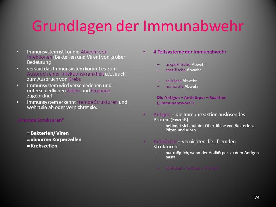 Grundlagen der Immunabwehr