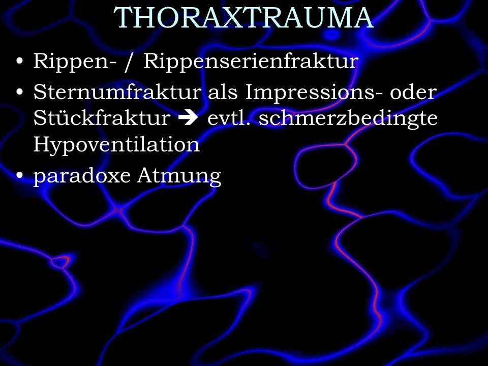 THORAXTRAUMA Rippen- / Rippenserienfraktur