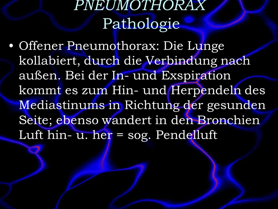 PNEUMOTHORAX Pathologie