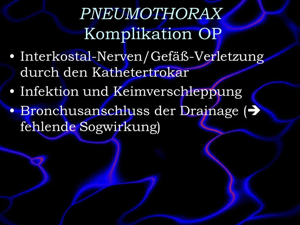 PNEUMOTHORAX Komplikation OP
