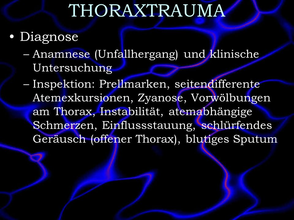 THORAXTRAUMA Diagnose