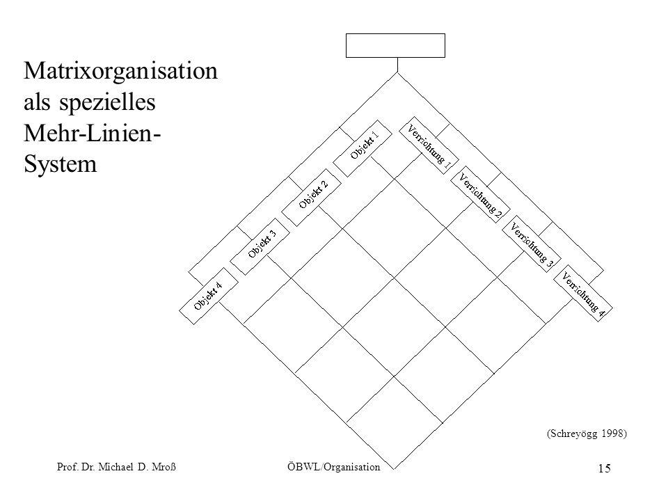 Matrixorganisation als spezielles Mehr-Linien-System