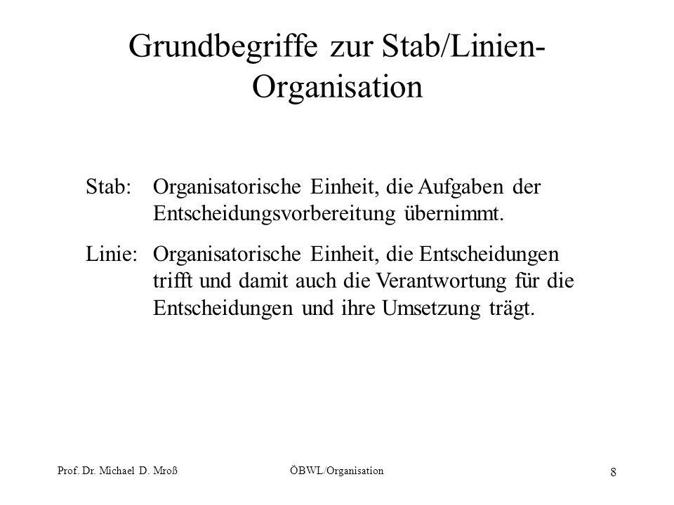 Grundbegriffe zur Stab/Linien-Organisation