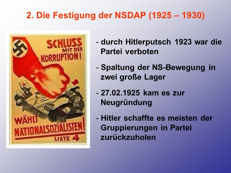 2. Die Festigung der NSDAP (1925 – 1930)