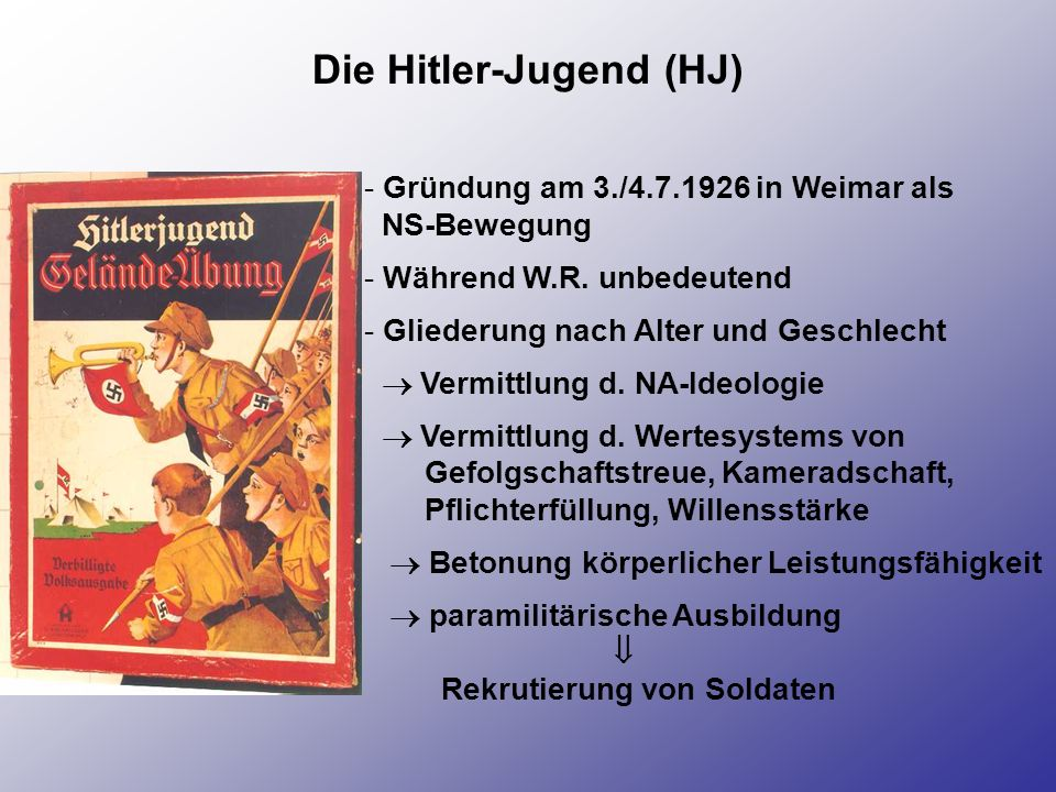 Die Hitler-Jugend (HJ)