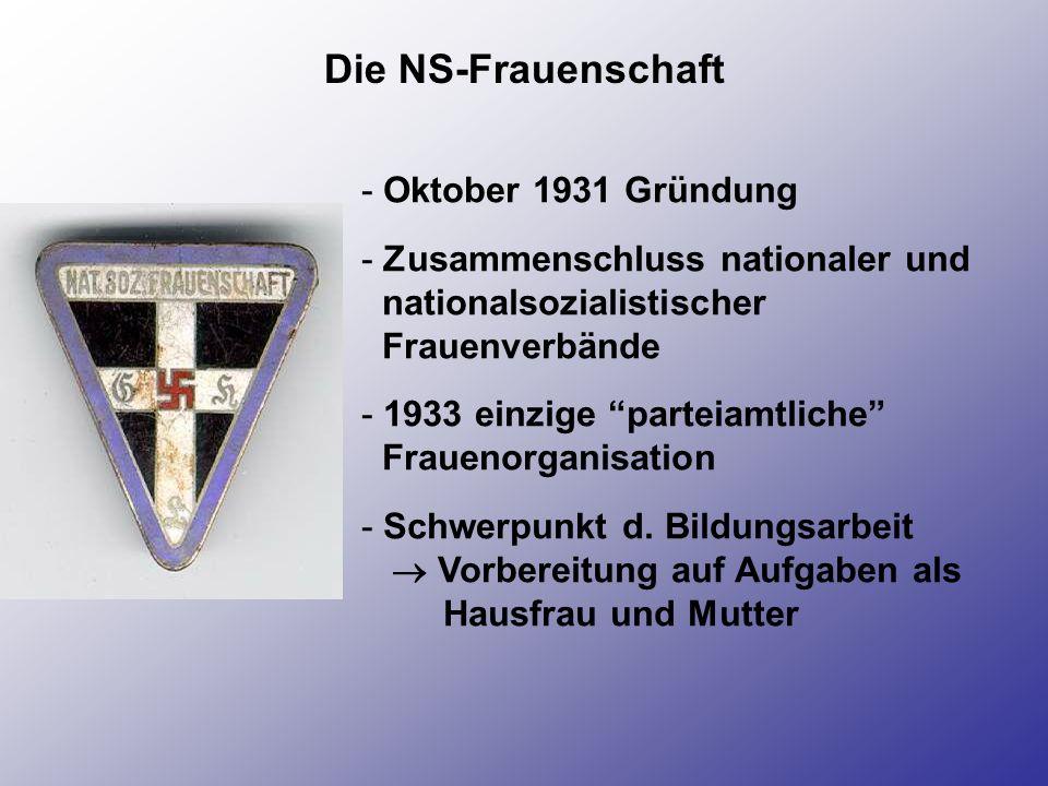 Die NS-Frauenschaft Oktober 1931 Gründung