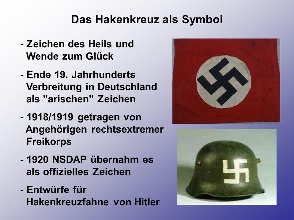 Das Hakenkreuz als Symbol
