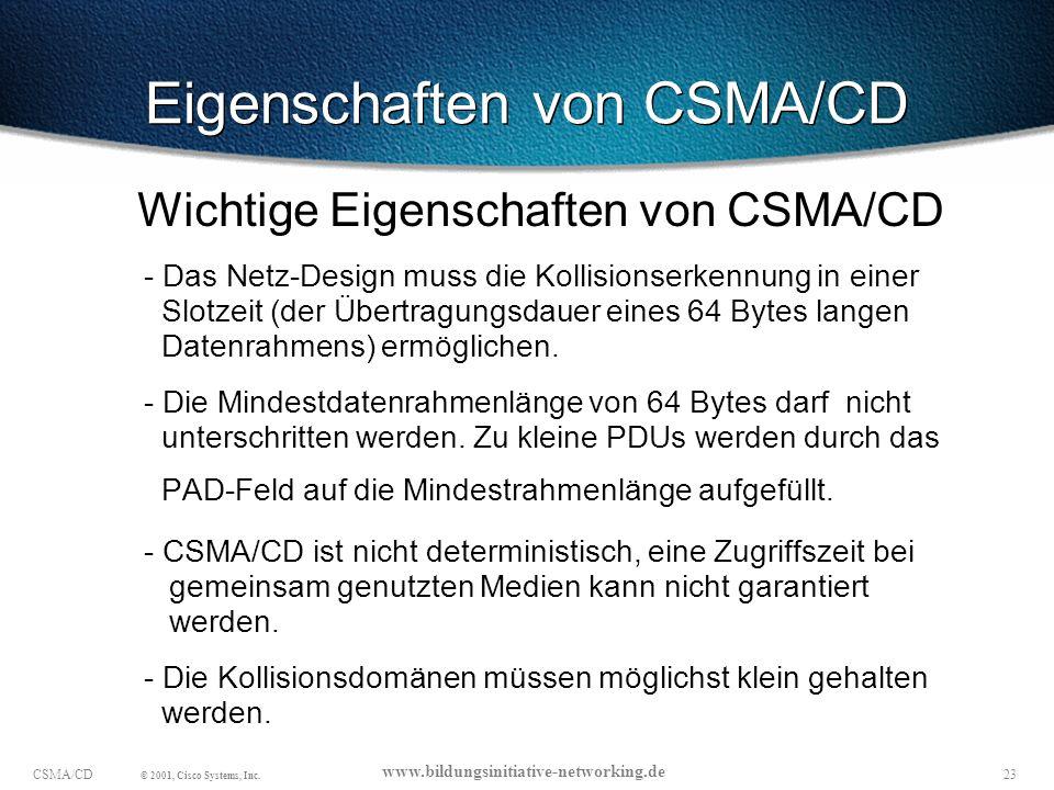 Eigenschaften von CSMA/CD