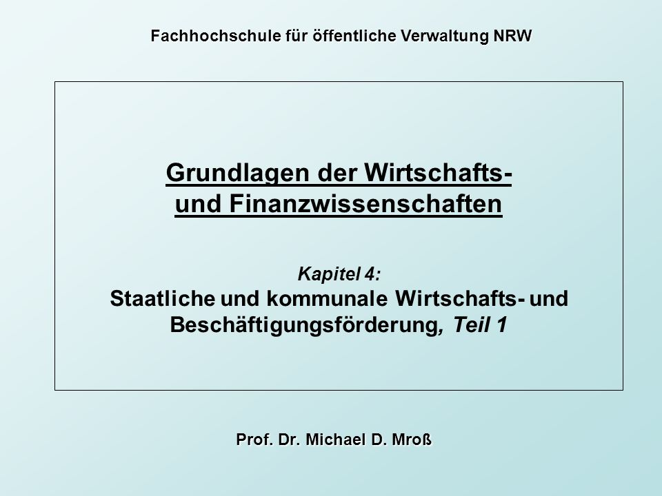 Fachhochschule für öffentliche Verwaltung NRW