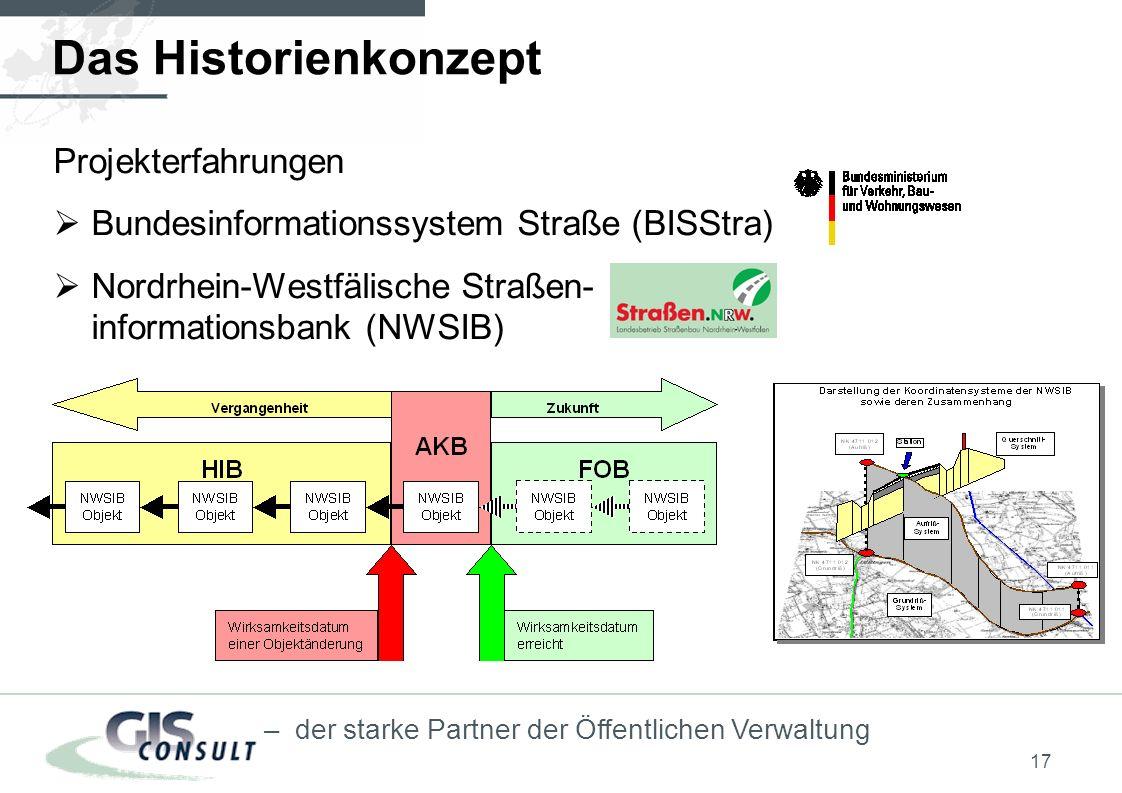 Das Historienkonzept Projekterfahrungen