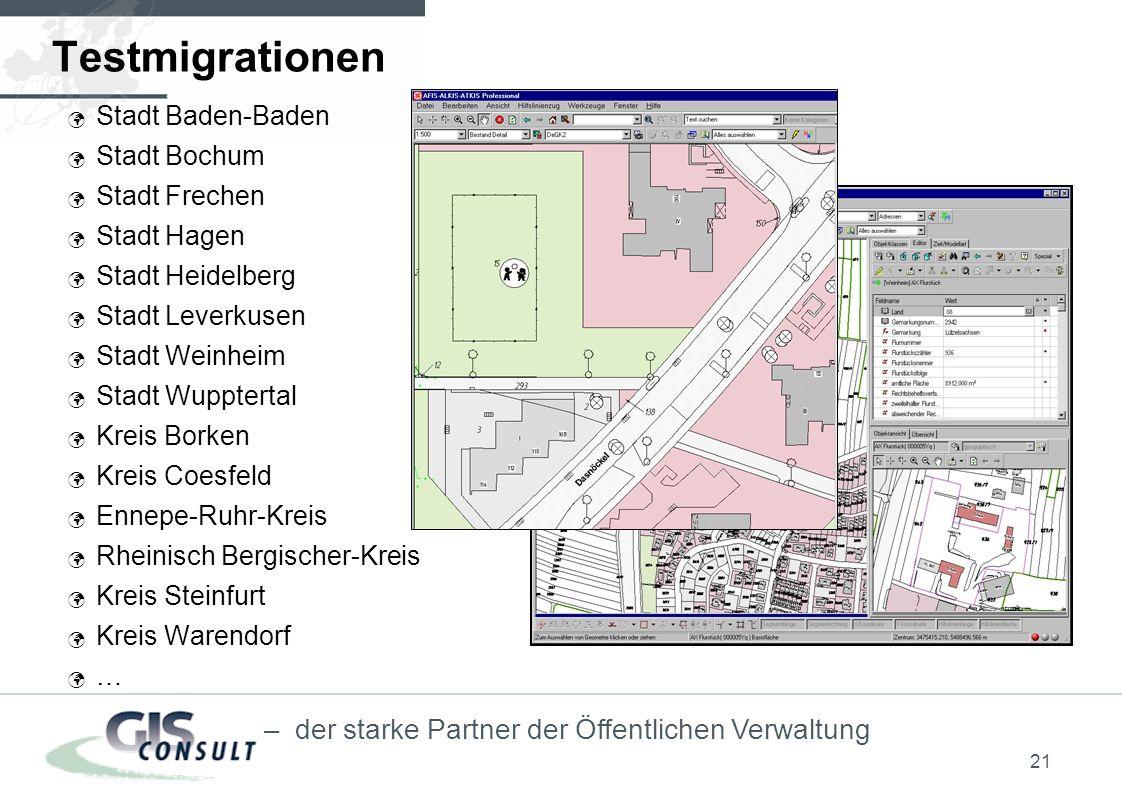 Testmigrationen Stadt Baden-Baden Stadt Bochum Stadt Frechen