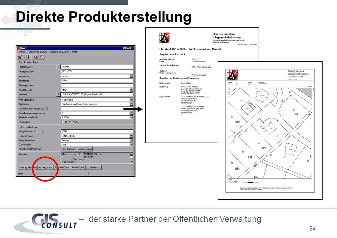 Direkte Produkterstellung