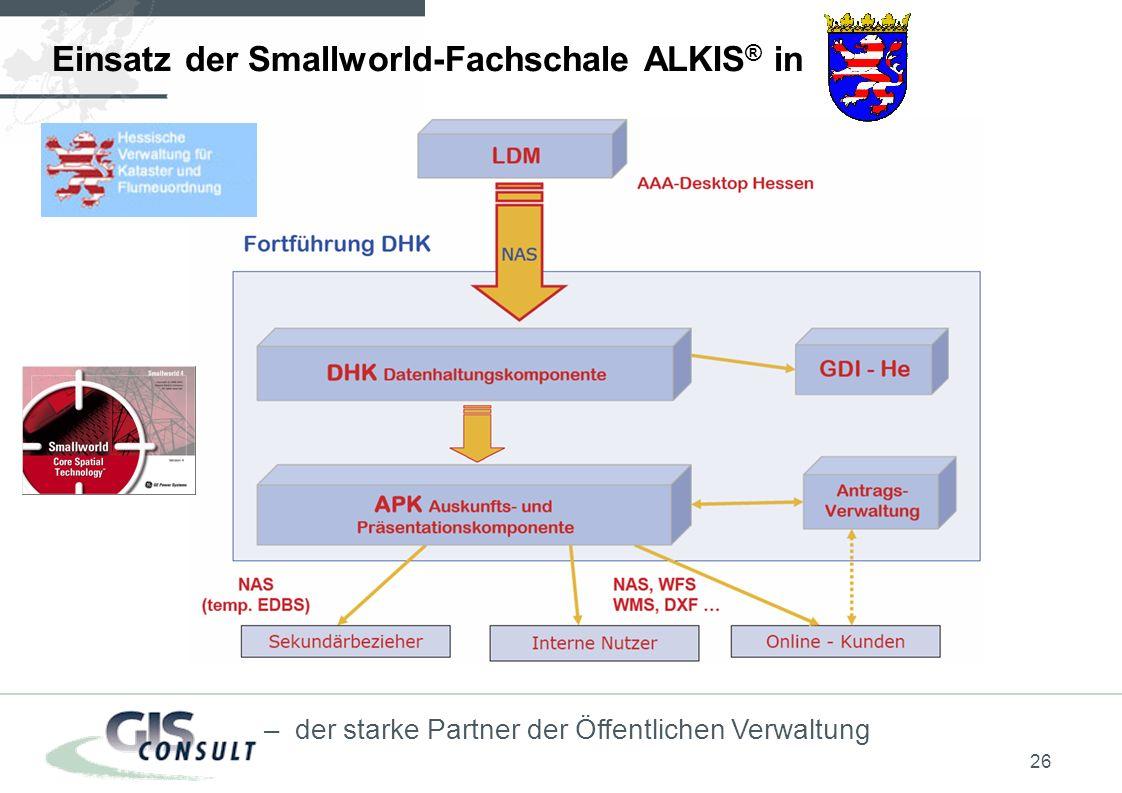 Einsatz der Smallworld-Fachschale ALKIS® in
