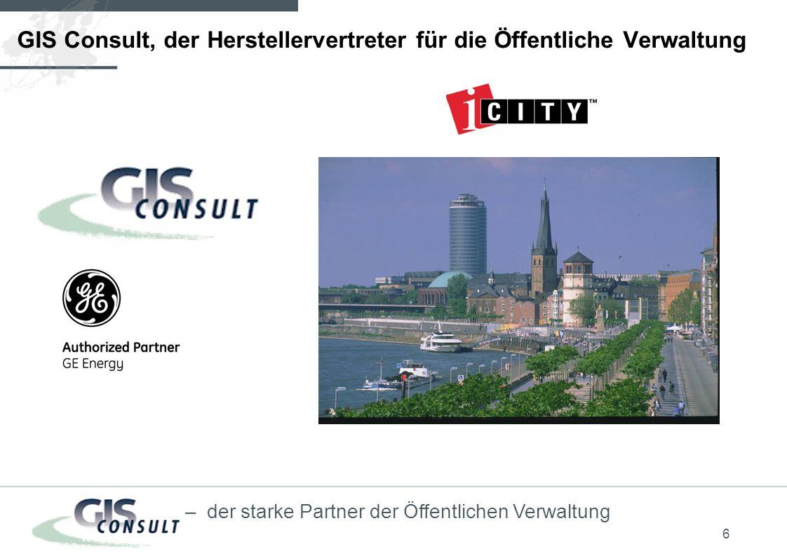 GIS Consult, der Herstellervertreter für die Öffentliche Verwaltung