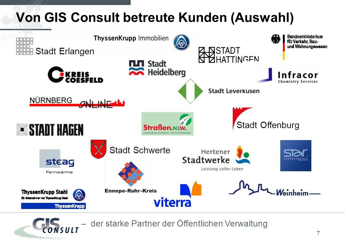 Von GIS Consult betreute Kunden (Auswahl)