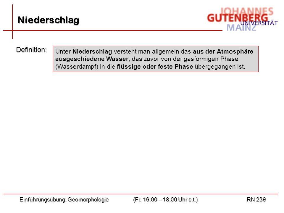 Niederschlag Definition: