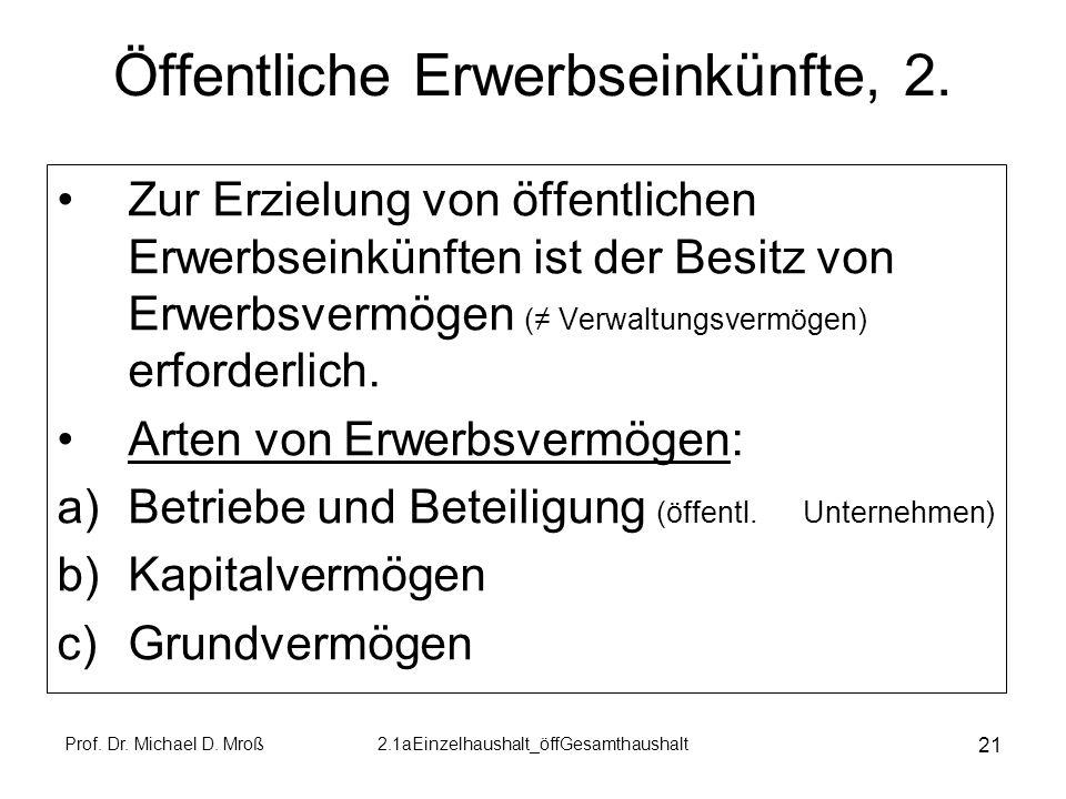 Öffentliche Erwerbseinkünfte, 2.