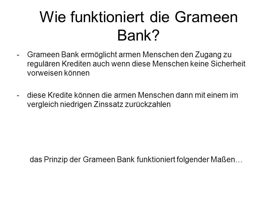 Wie funktioniert die Grameen Bank