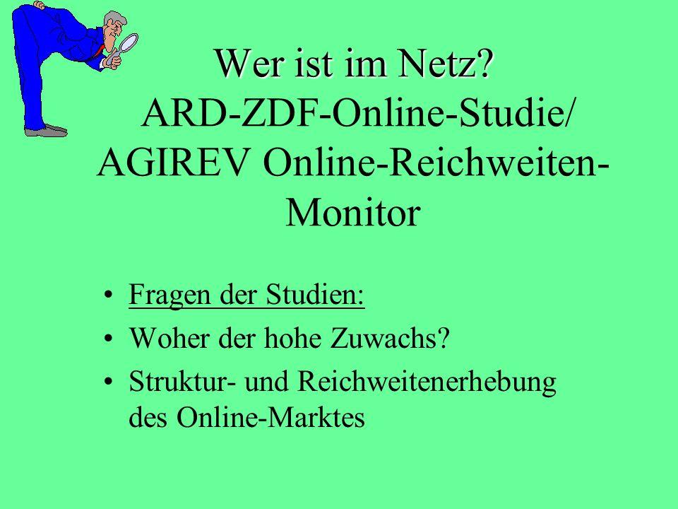 Wer ist im Netz ARD-ZDF-Online-Studie/ AGIREV Online-Reichweiten-Monitor