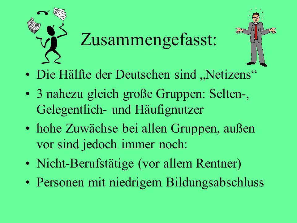 """Zusammengefasst: Die Hälfte der Deutschen sind """"Netizens"""