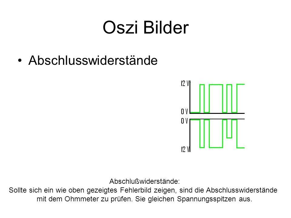 Oszi Bilder Abschlusswiderstände Abschlußwiderstände: