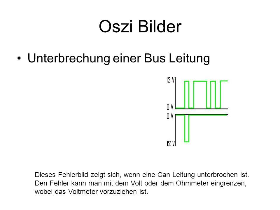 Oszi Bilder Unterbrechung einer Bus Leitung