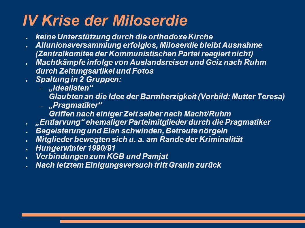 IV Krise der Miloserdie