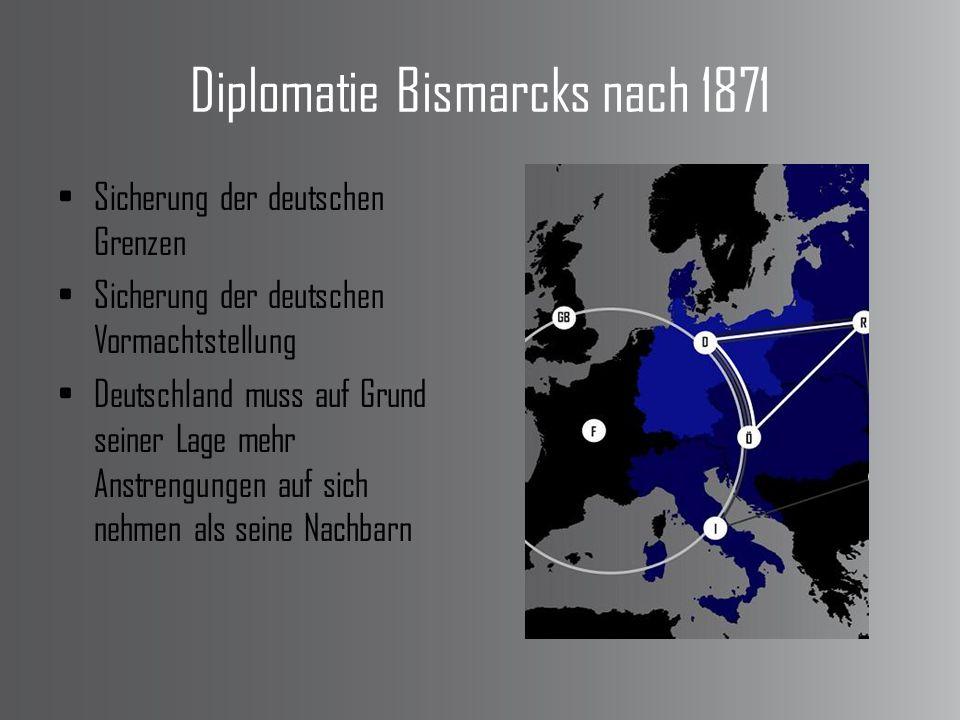 Diplomatie Bismarcks nach 1871