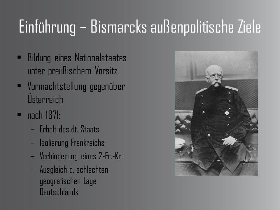 Einführung – Bismarcks außenpolitische Ziele