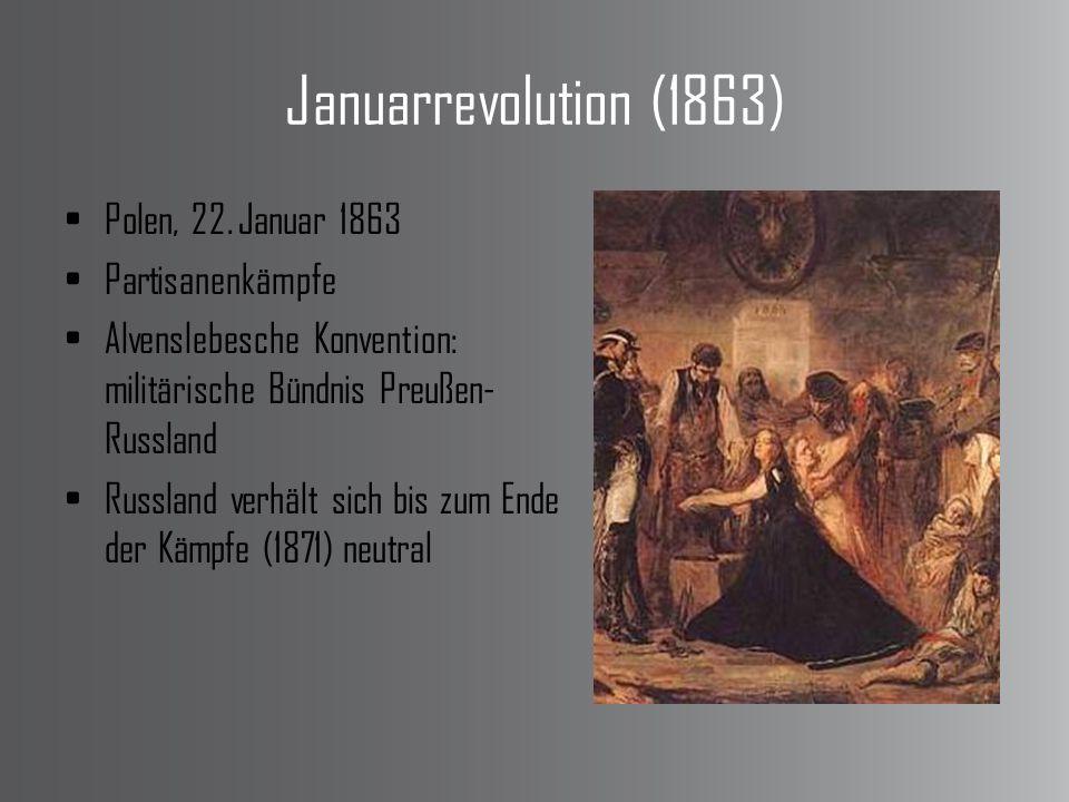 Januarrevolution (1863) Polen, 22. Januar 1863 Partisanenkämpfe