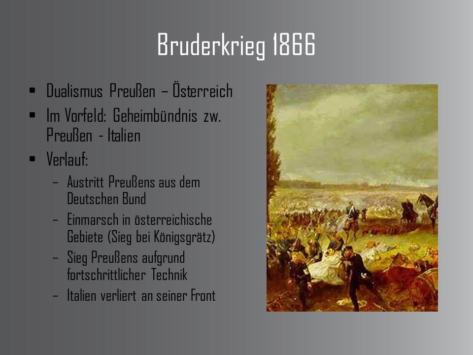 Bruderkrieg 1866 Dualismus Preußen – Österreich