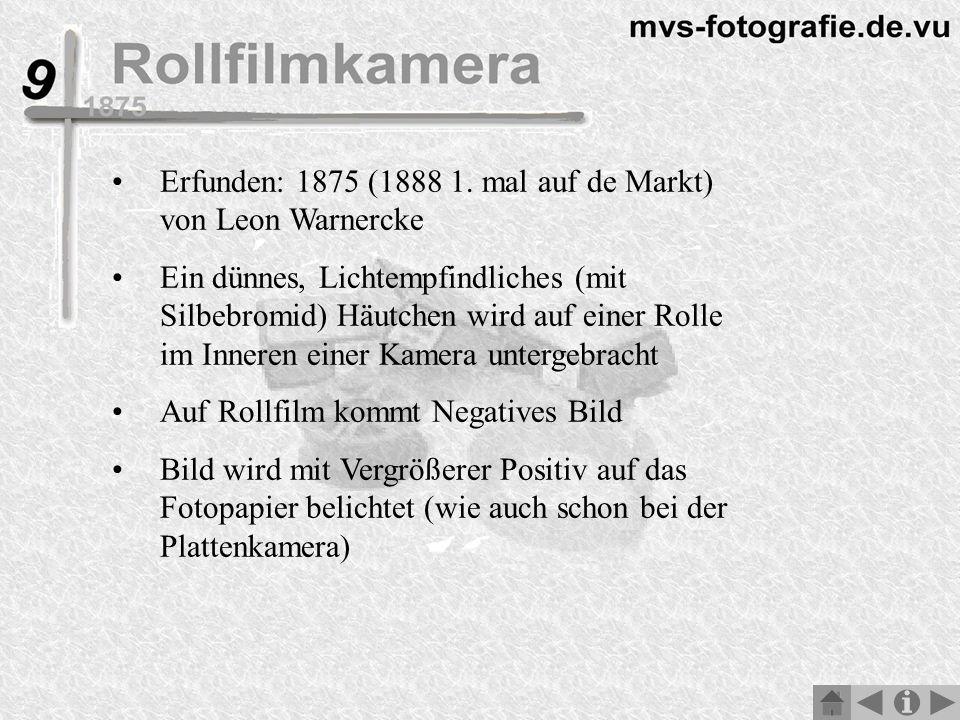 Erfunden: 1875 (1888 1. mal auf de Markt) von Leon Warnercke