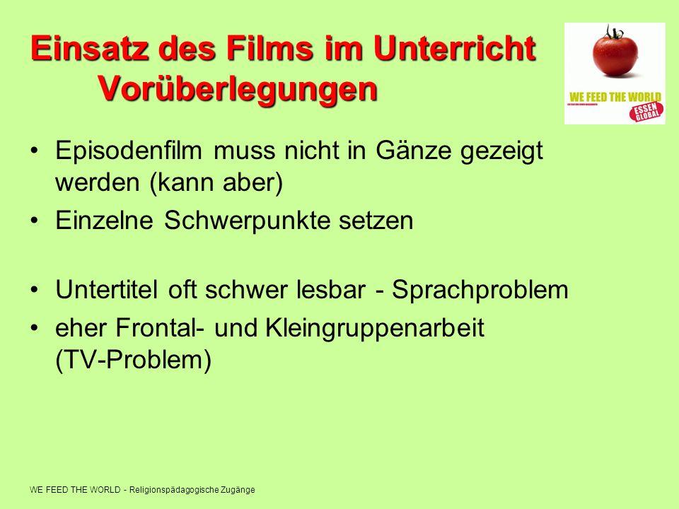 Einsatz des Films im Unterricht Vorüberlegungen