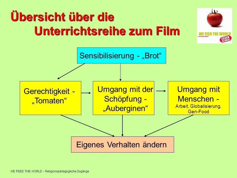 Übersicht über die Unterrichtsreihe zum Film