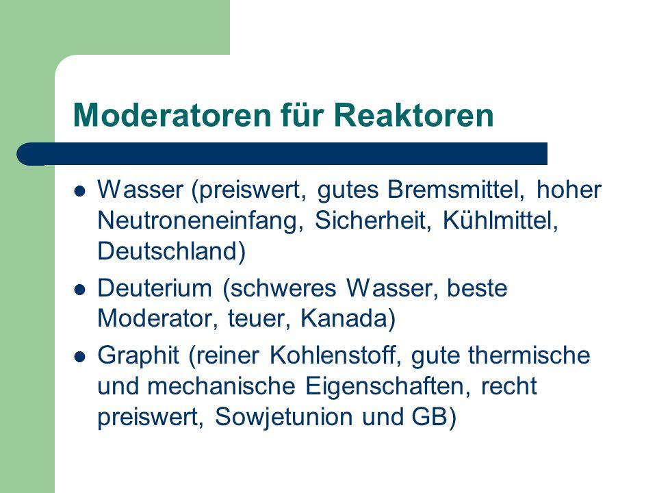 Moderatoren für Reaktoren