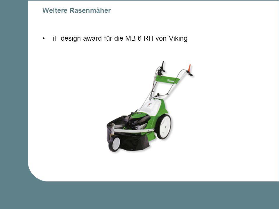 Weitere Rasenmäher iF design award für die MB 6 RH von Viking