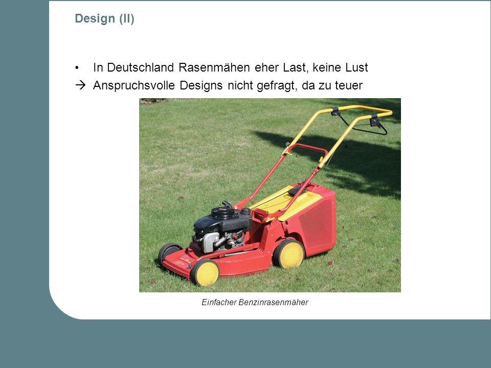 In Deutschland Rasenmähen eher Last, keine Lust