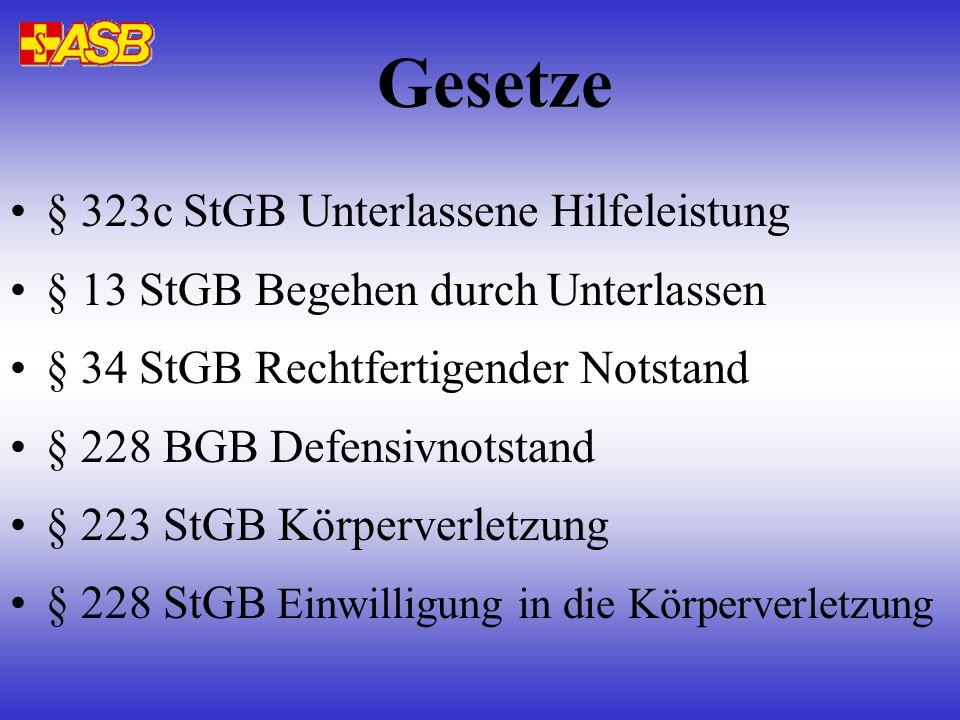 Gesetze § 323c StGB Unterlassene Hilfeleistung