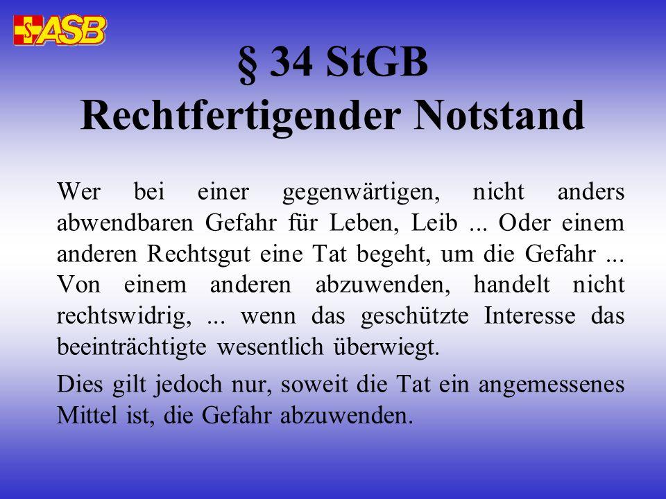 § 34 StGB Rechtfertigender Notstand