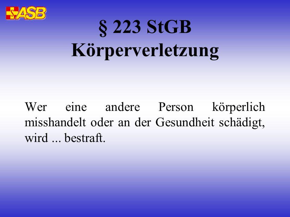 § 223 StGB Körperverletzung