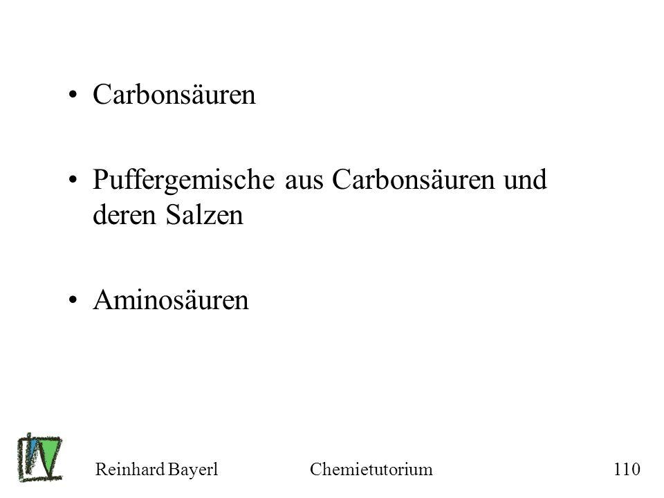 Puffergemische aus Carbonsäuren und deren Salzen