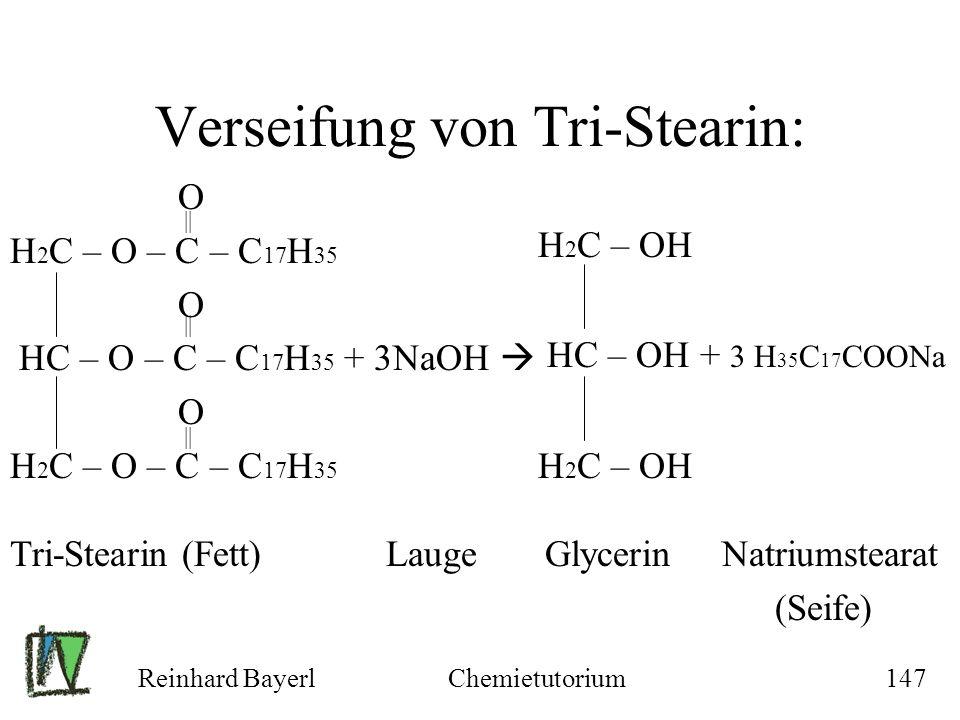 Verseifung von Tri-Stearin: