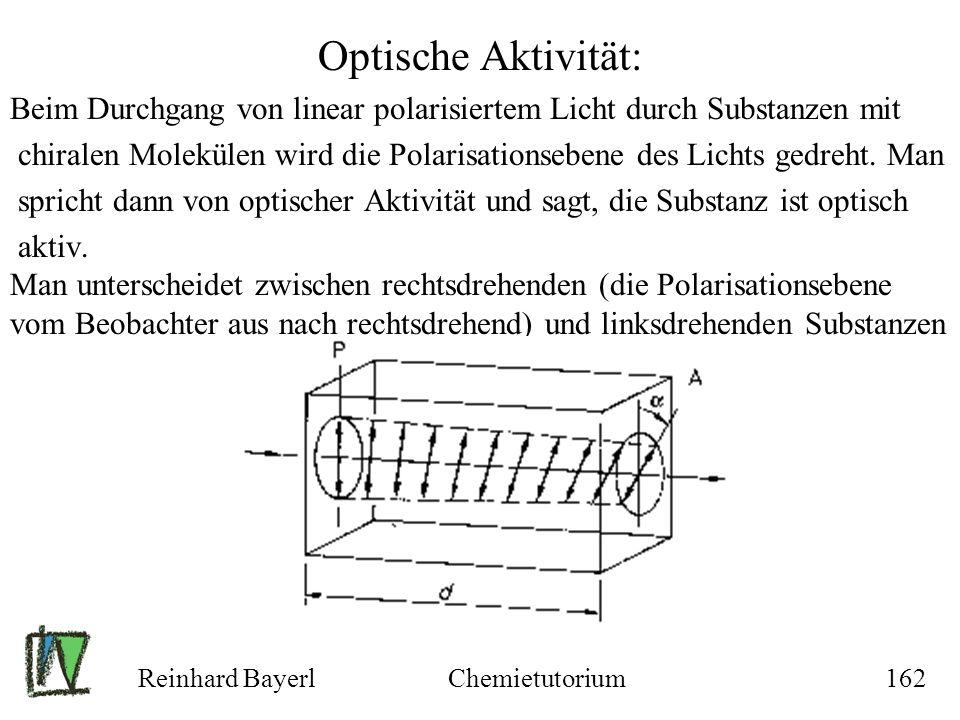 Optische Aktivität: Beim Durchgang von linear polarisiertem Licht durch Substanzen mit.