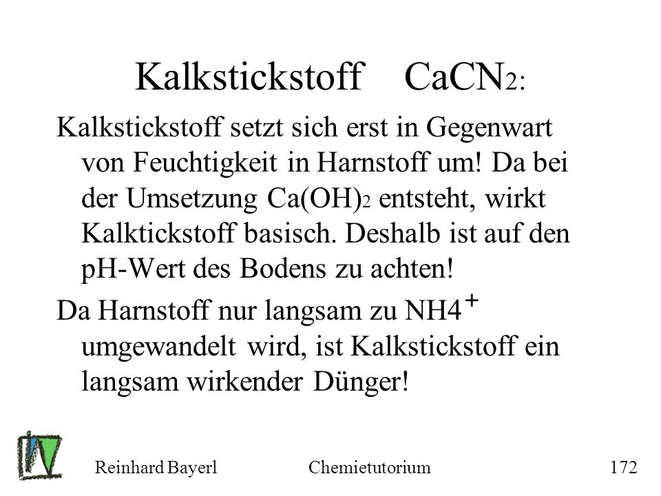 Kalkstickstoff CaCN2: