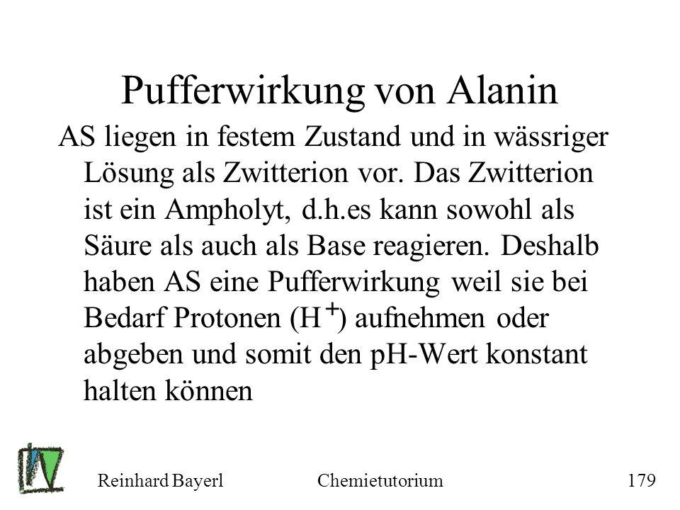 Pufferwirkung von Alanin