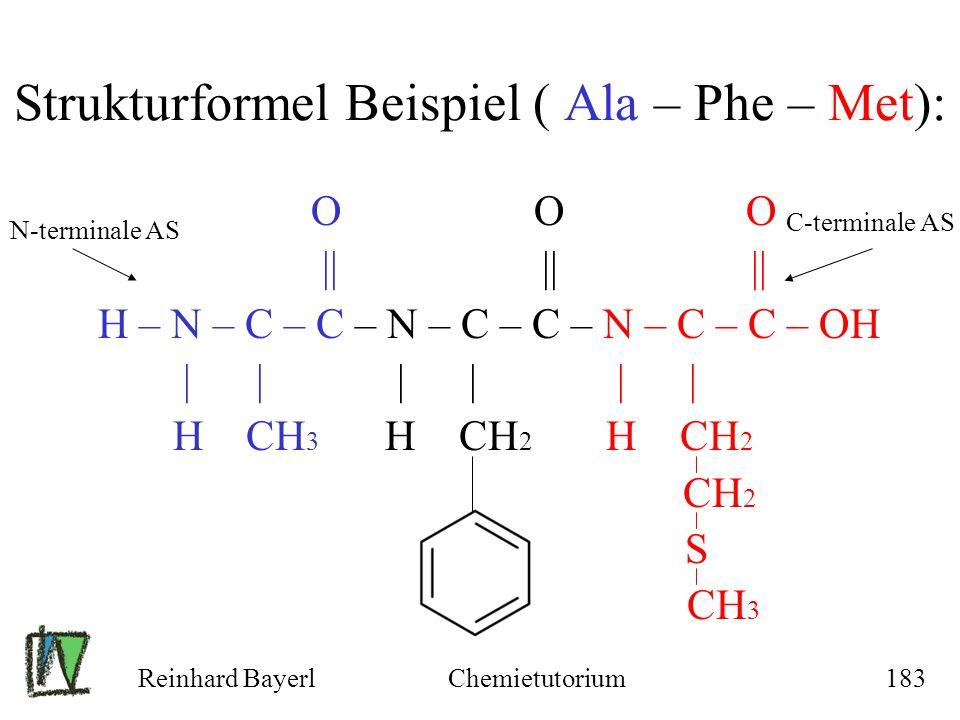 Strukturformel Beispiel ( Ala – Phe – Met):