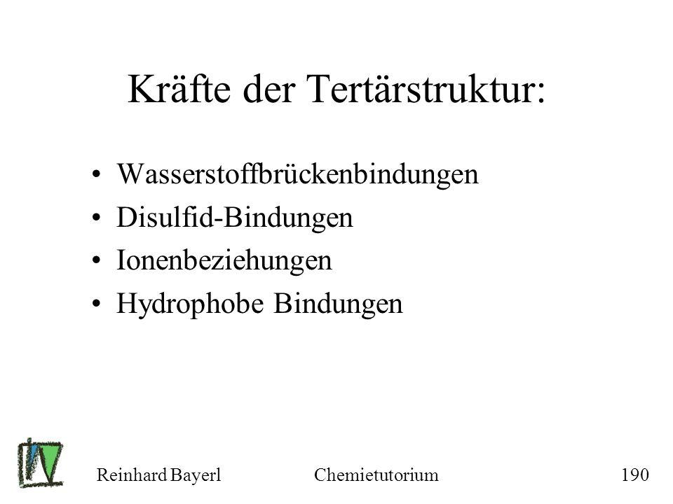 Kräfte der Tertärstruktur: