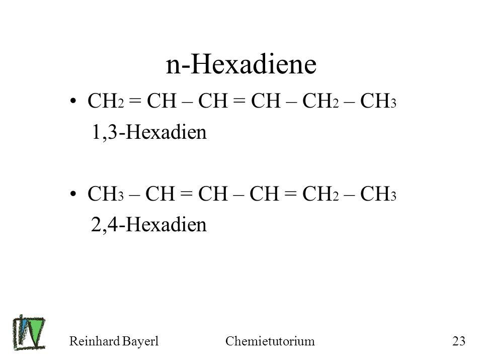 n-Hexadiene CH2 = CH – CH = CH – CH2 – CH3 1,3-Hexadien